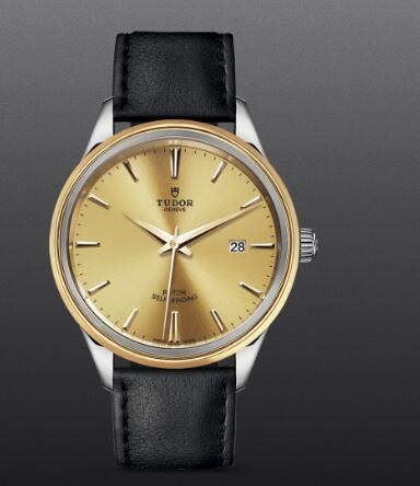 Replica Tudor Style Swiss Watch 41mm steel case steel and yellow gold bezel m12703-0007