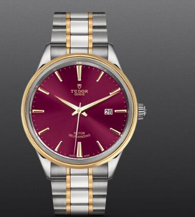 Replica Tudor Style Swiss Watch 41mm steel case steel and yellow gold bezel m12703-0013