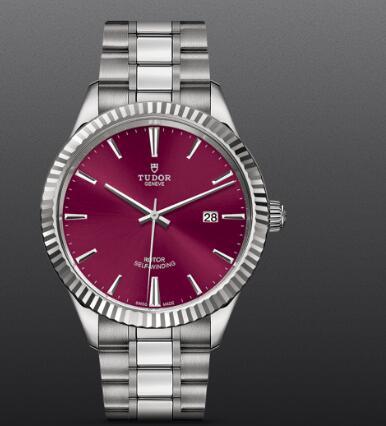 Tudor Style Swiss Replica Watch 41mm steel case burgundy dial m12710-0015