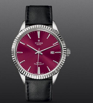 Replica Tudor Style Swiss Watch 41MM Steel Case Burgundy dial m12710-0028