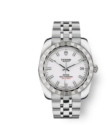 Tudor Classic Date Watch Replica 38 mm steel case White dial m21010-0007