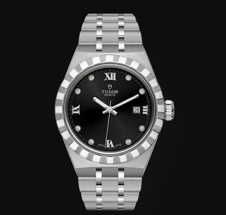 New Tudor Royal Watch Cheap Price 28 mm steel case Diamond-set dial Replica watch m28300-0004