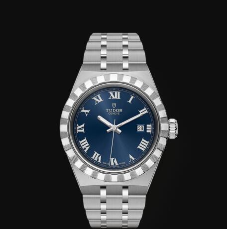 New Tudor Royal Watch Cheap Price 28 mm steel case Blue dial Replica watch m28300-0006