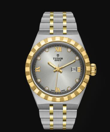 New Tudor Royal Watch Cheap Price 28 mm steel case Diamond-set dial Replica watch m28303-0002