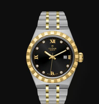 New Tudor Royal Watch Cheap Price 28 mm steel case Diamond-set dial Replica watch m28303-0005