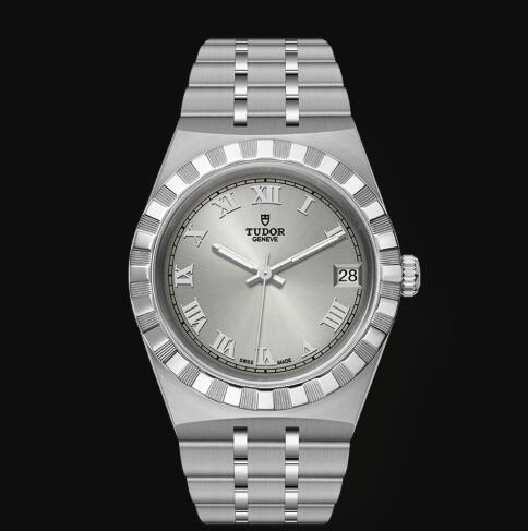New Tudor Royal Watch Cheap Price 34 mm steel case Silver dial Replica watch m28400-0001