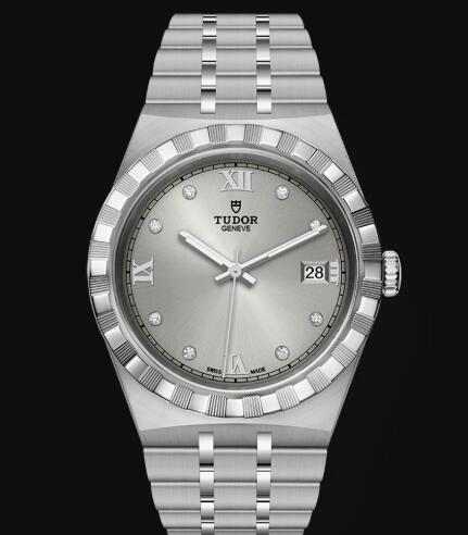 New Tudor Royal Watch Cheap Price 38 mm steel case Diamond-set dial Replica watch m28500-0002
