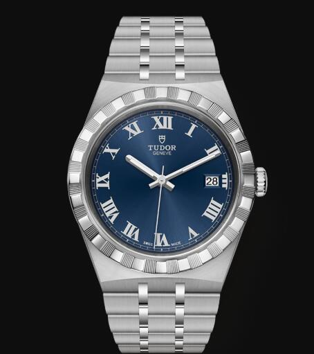 New Tudor Royal Watch Cheap Price 38 mm steel case Blue dial Replica watch m28500-0005
