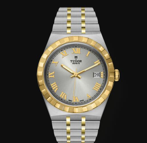 New Tudor Royal Watch Cheap Price 38 mm steel case Yellow gold bezel Replica watch m28503-0001