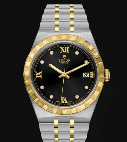 New Tudor Royal Watch Cheap Price 38 mm steel case Diamond-set dial Replica watch m28503-0004