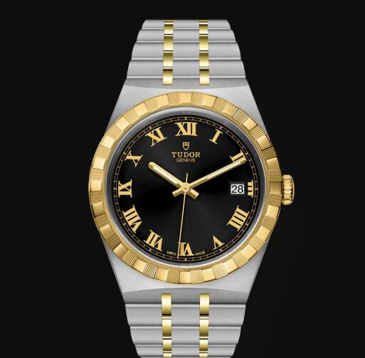 New Tudor Royal Watch Cheap Price 38 mm steel case Yellow gold bezel Replica watch m28503-0006