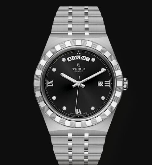 New Tudor Royal Watch Cheap Price 41 mm steel case Diamond-set dial Replica watch m28600-0004