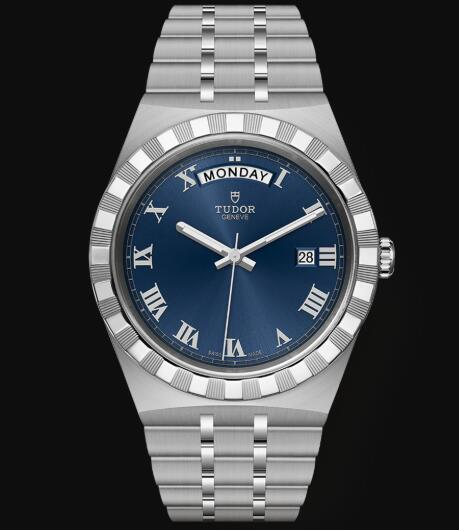 New Tudor Royal Watch Cheap Price 41 mm steel case Blue dial Replica watch m28600-0005