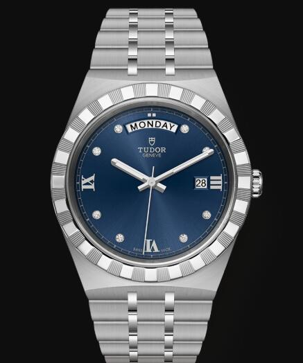 New Tudor Royal Watch Cheap Price 41 mm steel case Diamond-set dial Replica watch m28600-0006