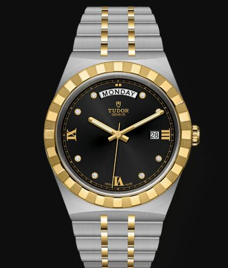 New Tudor Royal Watch Cheap Price 41 mm steel case Diamond-set dial Replica watch m28603-0005