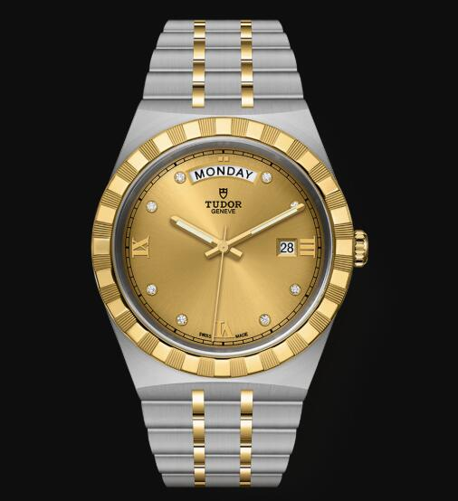 New Tudor Royal Watch Cheap Price 41 mm steel case Diamond-set dial Replica watch m28603-0006
