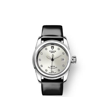 Cheap Tudor Glamour Date Review Replica Watch 26 mm steel case Diamond-set dial m51000-0019