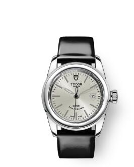 Cheap Tudor Glamour Date Review Replica Watch 26 mm steel case Silver dial m51000-0020