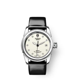 Cheap Tudor Glamour Date Review Replica Watch 26 mm steel case Diamond-set dial m51000-0030