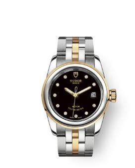 Cheap Tudor Glamour Date Review Replica Watch 26 mm steel case Diamond-set dial m51003-0007