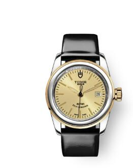 Cheap Tudor Glamour Date Review Replica Watch 26 mm steel case Steel and yellow gold bezel m51003-0020