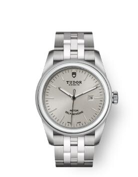Cheap Tudor Glamour Date Review Replica Watch 31 mm steel case Silver dial m53000-0004
