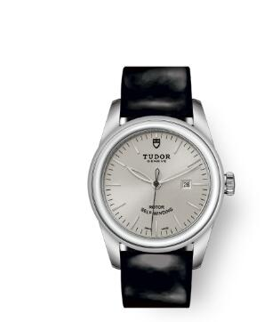 Cheap Tudor Glamour Date Review Replica Watch 31 mm steel case Silver dial m53000-0031