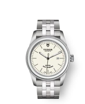 Cheap Tudor Glamour Date Review Replica Watch 31 mm steel case Opaline dial m53000-0079