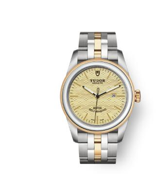 Cheap Tudor Glamour Date Review Replica Watch 31 mm steel case Steel and yellow gold bezel m53003-0003