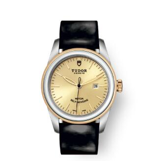 Cheap Tudor Glamour Date Review Replica Watch 31 mm steel case Steel and yellow gold bezel m53003-0047