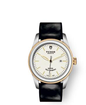 Cheap Tudor Glamour Date Review Replica Watch 31 mm steel case Steel and yellow gold bezel m53003-0071
