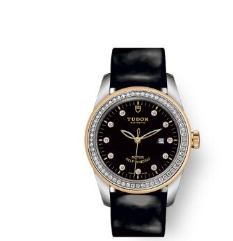 Cheap Tudor Glamour Date Review Replica Watch 31 mm steel case Diamond-set dial m53023-0041