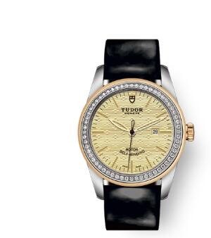 Cheap Tudor Glamour Date Review Replica Watch 31 mm steel case Diamond-set dial m53023-0046