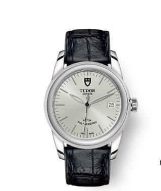 Cheap Tudor Glamour Date Review Replica Watch 36 mm steel case Silver dial m55000-0042