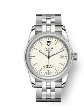 Cheap Tudor Glamour Date Review Replica Watch 36 mm steel case Opaline dial m55000-0103