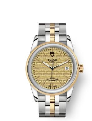 Cheap Tudor Glamour Date Review Replica Watch 36 mm steel case Steel and yellow gold bezel m55003-0003