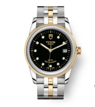 Cheap Tudor Glamour Date Review Replica Watch 36 mm steel case Diamond-set dial m55003-0008