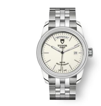 Cheap Tudor Glamour Date Day Review Replica Watch 39 mm steel case Opaline dial m56000-0181