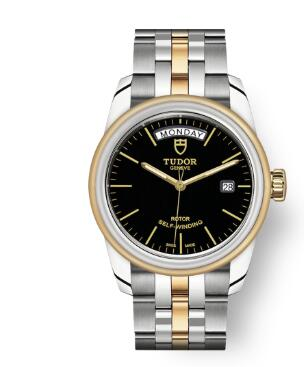 Cheap Tudor Glamour Date Day Review Replica Watch 39 mm steel case Steel and yellow gold bezel m56003-0007