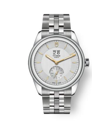 Buy Tudor Glamour Double Date Review Replica Watch for sale 42 mm steel case Silver dial m57100-0002