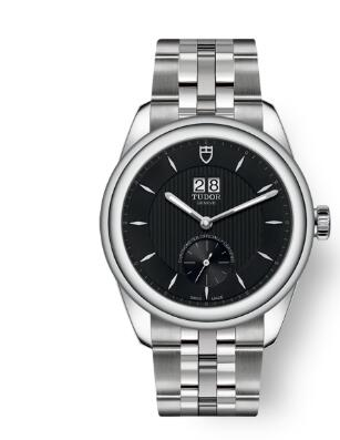 Buy Tudor Glamour Double Date Review Replica Watch for sale 42 mm steel case Black dial m57100-0003