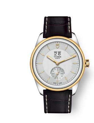 Buy Tudor Glamour Double Date Review Replica Watch for sale 42 mm steel case Steel and yellow gold bezel m57103-0019