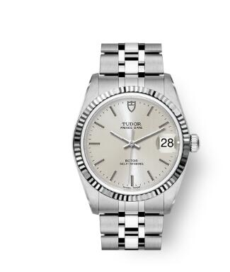 Buy Tudor Prince Date Replica Watch 34 mm steel case White gold bezel m74034-0003