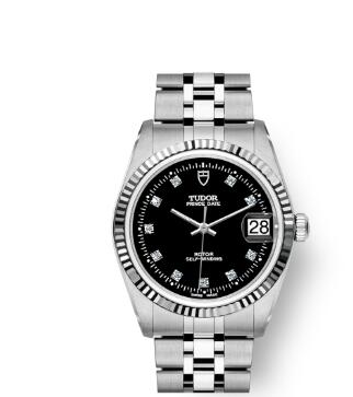 Buy Tudor Prince Date Replica Watch 34 mm steel case Diamond-set dial m74034-0006