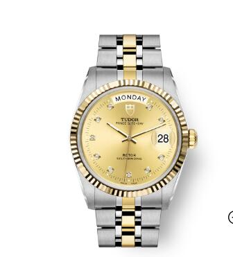 Buy Tudor Prince Date + Day Replica Watch 36 mm steel case Diamond-set dial m76213-0011