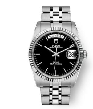 Buy Tudor Prince Date + Day Replica Watch 36 mm steel case White gold bezel m76214-0001