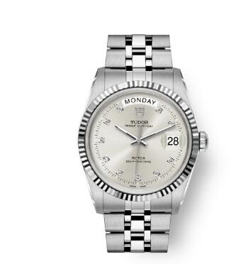 Buy Tudor Prince Date + Day Replica Watch 36 mm steel case Diamond-set dial m76214-0017
