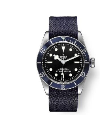 Tudor BLACK BAY replica watch m79230b-0006 41 mm steel case Blue fabric strap