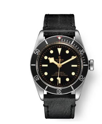 Tudor BLACK BAY replica watch m79230n-0008 41 mm steel case Aged leather strap