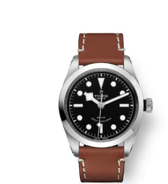 Tudor BLACK BAY 36 Watch Replica 36 mm steel case Brown leather strap m79500-0009